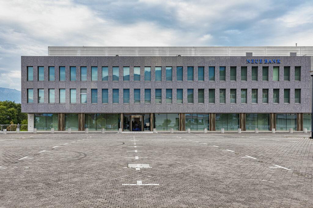 Das Bankgebäude der Neue Bank